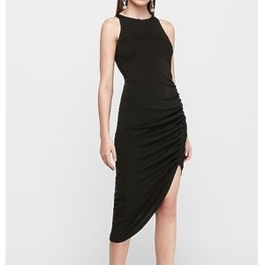 Forever 21 Assymetrical Midi Dress with Ruching